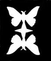 Glitter Tattoo BUTTERFLY DOUBLE vlinders