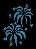 Glitter Tattoo FIREWORK vuurwerk groot