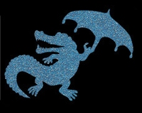 Glitter Tattoo CROC PARAPLU krokodil regenscherm