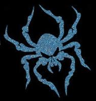 Glitter Tattoo HALLOWEEN SPIDER SKULL spin