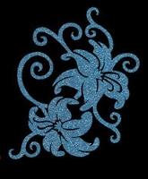 Glitter Tattoo FLOWERS SWIRL bloemen