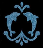 Glitter Tattoo DOLPHINS BELLY dolfijnen navel