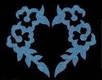 Glitter Tattoo FLOWERS HEART BLOEMEN HART navel