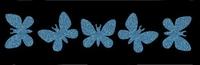 Glitter Tattoo BRACELET BUTTERFLIES vlinders