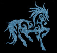 Glitter Tattoo HORSE FANCY paard sierlijk