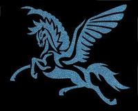 Glitter Tattoo PEGASUS LARGE paard vliegend groot