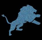 Glitter Tattoo LION JUMP leeuw springend