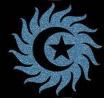 Glitter Tattoo SUN MOON STAR zon maan ster