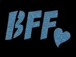 Glitter Tattoo BFF Best friend forever