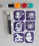 Glitter Tattoo Set HALLOWEEN