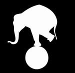 Glitter Tattoo CIRCUS 2 ELEPHANT olifant