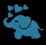 Glitter Tattoo ELEPHANT HEARTS olifant hartjes