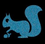 Glitter Tattoo SQUIRREL nut eekhoorn met nootje