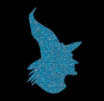 Glitter Tattoo WITCH hat heks met hoed