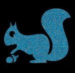 Glitter Tattoo SQUIRREL nut eekhoorn met nootje