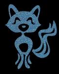 Glitter Tattoo FOX CUTE lieve vos