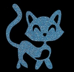 Glitter Tattoo KITTEN CUTE lieve kat