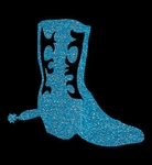 Glitter Tattoo BOOT WESTERN laars