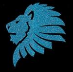 Glitter Tattoo LION HEAD COOL leeuw hoofd