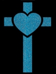 Glitter Tattoo CROSS HEART kruis hart