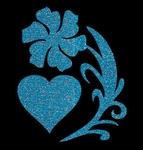 Glitter Tattoo FLOWER HEART bloem met hart