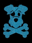 Glitter Tattoo DOG PIRATE hond piraat