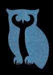 Glitter Tattoo OWL uil staan