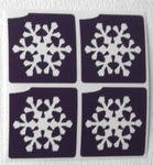 Glitter Tattoo frozen snowflake minidesign