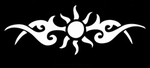 Glitter Tattoo SUN TRIBAL large zon