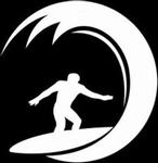 Glitter Tattoo SURFER WAVES golven