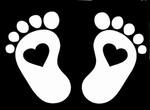 Glitter Tattoo BABY FEET baby voetjes