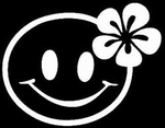 Glitter Tattoo SMILEY FLOWER bloem