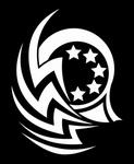 Glitter Tattoo STARS TRIBAL sterren
