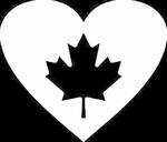 Glitter Tattoo CANADA HEART hart