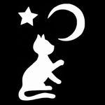 Glitter Tattoo CAT MOON STAR kat maan ster