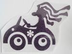Strijkapplicatie hippie car