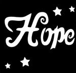 Glitter Tattoo hope hoop