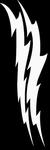 Glitter Tattoo lightning donderslag lichtflits