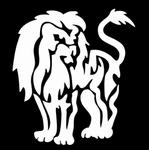Glitter Tattoo lion standing leeuw