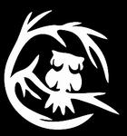 Glitter Tattoo owl in tree uil boom