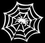 Glitter Tattoo spider web spin