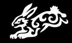 Glitter Tattoo star rabbit tribal konijn