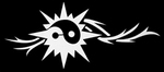 Glitter Tattoo ying yang sun tribal