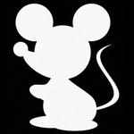 Glitter Tattoo mouse cute muis muisje