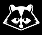 Glitter Tattoo raccoon stinkdier