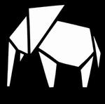 Glitter Tattoo elephant 1 origami olifant
