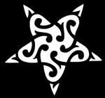 Glitter Tattoo maori star ster
