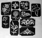 Glitter Tattoo FLOWERS  1 set van 10 sjablonen