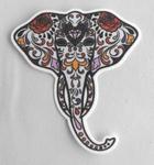 Strijkapplicatie olifant hoofd