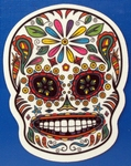 Strijkapplicatie skul nr3 sugar skull